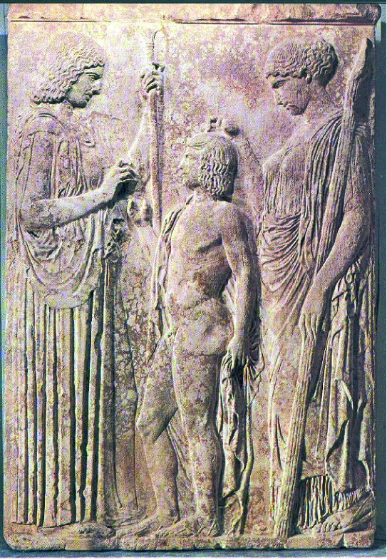 Demetra, Kore e Trittolemo Eleusi, V secolo a.C.